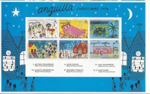 Anguilla, 270a, Christmas 1976 S/S(6),**MNH**