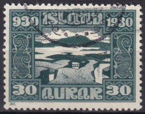 Iceland #159 F-VF Used CV $15.00 (Z6468)