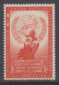 UN New York 29 Human Rights MNH VF