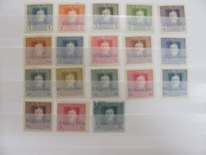 Italy Austrian Occupation  stamps  Mlh,u   1918        N1-18