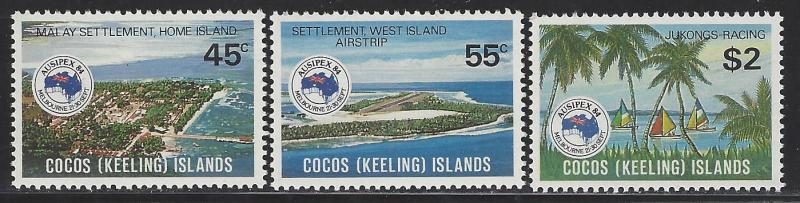 Cocos Islands Scott # 119 - 121, mint nh