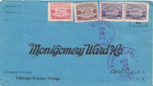Honduras 1c and 2c Ulua Bridge and 6c Bonilla Theater (2) 1919 La Ceiba, Hond...