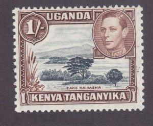 Kenya Uganda & Tanzania 80a Mint 1sh Yellow Brown & Gray Perf 13x11½