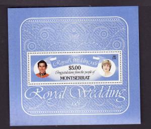 Montserrat-Sc#471-Unused NH sheet-Princess Diana-Royal Wedding-1981-