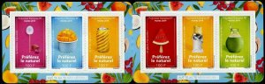 HERRICKSTAMP NEW ISSUES FRENCH POLYNESIA Foods Self-Adhesive Booklet
