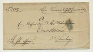 1844 TARNOW POLAND, AUSTRIAN OCCUPATION LETTER TO CONSISTORIUM -NICE EARLY ITEM