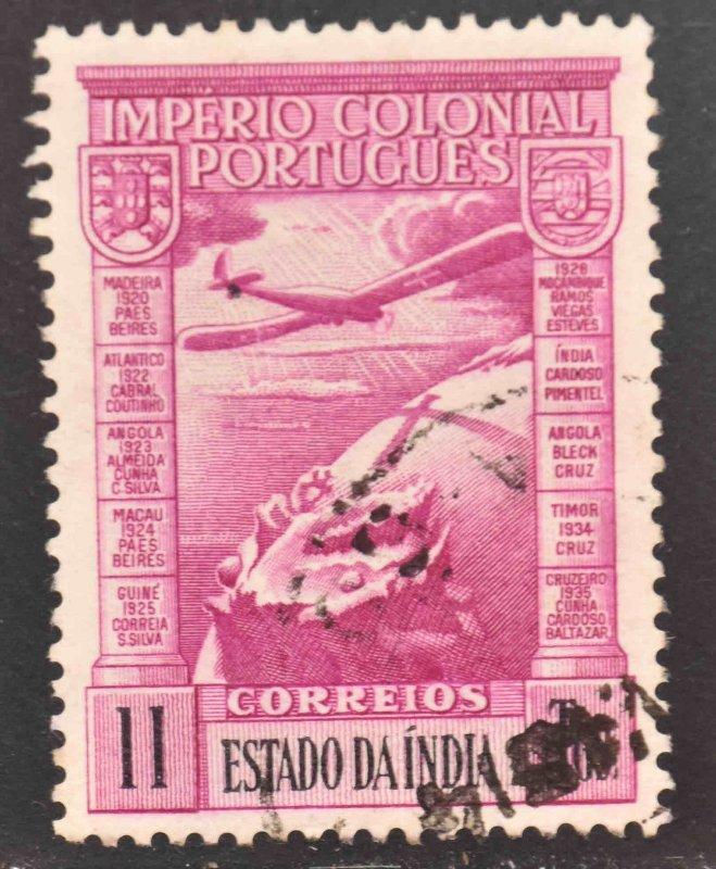 Portuguese India Scott C8 Used Ceres stamp