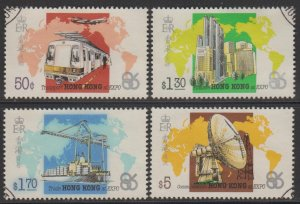 Hong Kong 1986 Vancouver World Expo Stamps Set of 4 Fine Used