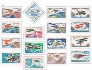 Monaco VF-NH #565-579 +C64