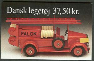 DENMARK HS78 (1037) Toy Firetrucks Booklets, VF,