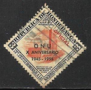 Honduras Air Mail 1956 Scott# C243 Used (thin)