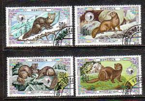 Mongolia Animals 1510-1513 CTO  VF NH