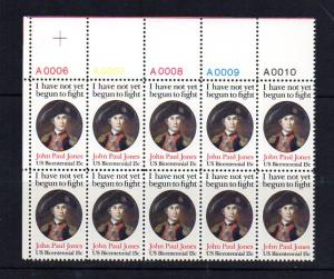 #1789 Plate Block of 10 Mint NH VF