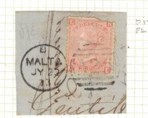 Malta GB Used Abroad SG Z49 Plate 14 Piece Item Three VFU (16drv)