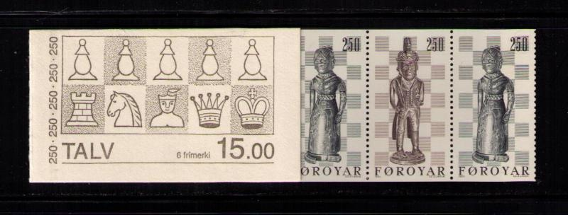FAROE ISLANDS Sc# 94a MNH FVF BKLT Pne 6 Chessmen King Queen
