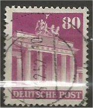 GERMANY, 1948, used 80pf red violet, Brandenburg Scott 655