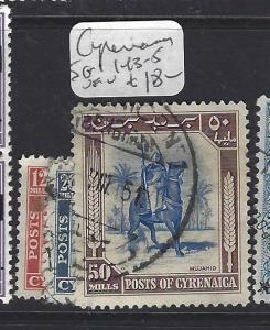 CYRENAICA LIBYA (P0809B) SG 143-5   VFU