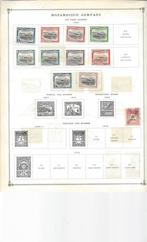 Mozambique and Mozambique Company on 7 Old Album Sheets Oh Nice!!!