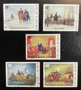 Burkina Faso Haute-Volta #365-367,C209-C210 Used Bicentennial Issues (No hinge)