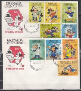 Grenada, Gr., Scott cat. 350-358. Yr. of Child, Cartoons. First day cover. ^