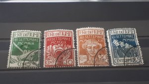Fiume 1920. - Military stamps # Stamped complete set signed