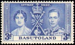 Basutoland #15-17, Complete Set(3), 1937, Royalty, Never Hinged