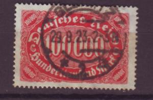 J13702 JLstamps 1922-3 germany used #209 numeral wmk 126