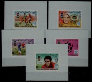 Mauritania 399-401,C187-88 MNH s/s Football-78
