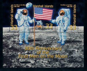 [102291] Marshall Islands 1999 Space travel weltraum Apollo 11 Sheet MNH