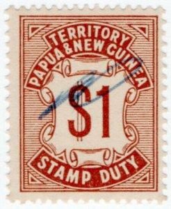 (I.B) Papua New Guinea Revenue : Stamp Duty $1