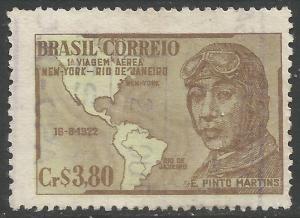 BRAZIL 711 VFU MAP Z6336-3