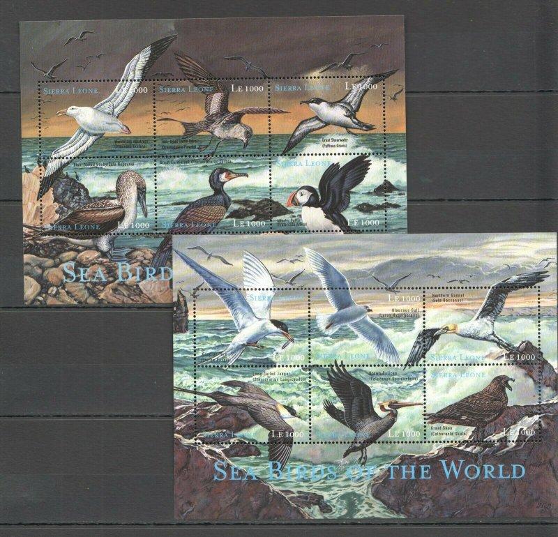 PK150 SIERRA LEONE FAUNA SEA BIRDS OF THE WORLD 2KB MNH STAMPS