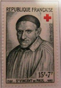 St Vincent de Paul Frankreich France 1958 15fr fine MH* A16P5F256