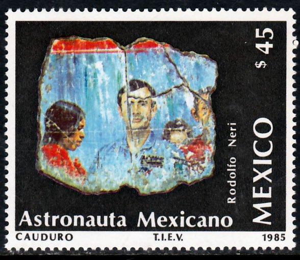 MEXICO 1422 Launch of Morelos II Telecom Satellite, SINGLE MINT, NH. VF.
