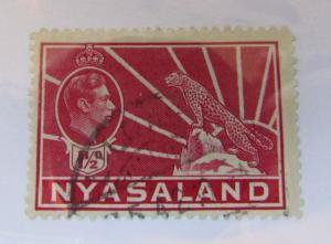 c1940 Nyasaland SCOTT #56 CHEETAH Θ used stamp