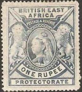 British East Africa 1901 Scott 102a Queen Vict & Lions MLH
