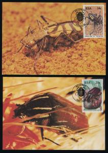 South Africa 690-3 on Maxi Cards - Insects