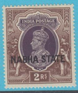 INDIA NABHA 82 MINT HINGED OG * NO FAULTS EXTRA FINE !