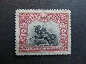 A4P10F25 Guatemala 1902 2c used