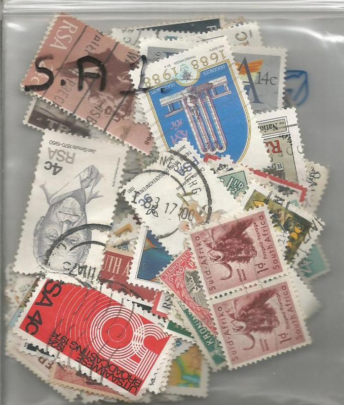 South Africa Mix x 100 used & Mint. All different. No. SA1