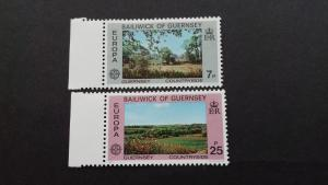 Guernsey 1977 EUROPA Stamps - Landscapes Mint