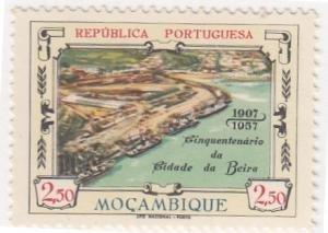 Mozambique, Sc # 402, MNH,  1957, View of Beira