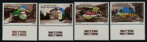 Israel 825-8 + tabs MNH Map, Architecture, Rosh Pinna, Rishon Leziyyon
