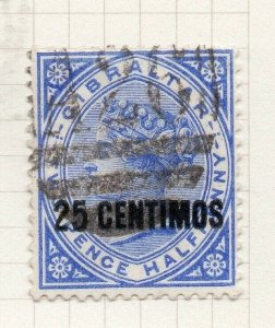 Gibraltar 1889 Early Issue Fine Used 25c. Surcharged 276237