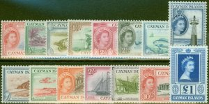Cayman Islands 1953-59 set of 15 SG148-161a V.F MNH