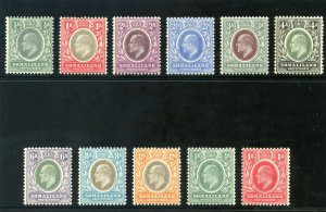 Somaliland 1905 KEVII set complete (ordinary paper) MLH. SG 45-59.