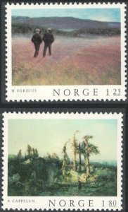 Norway 1977 #704-5 MNH. Paintings