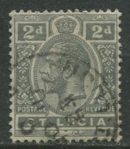 St. Lucia - Scott 80 - KGV - Definitive -1921 - Used -Single 2p Stamp