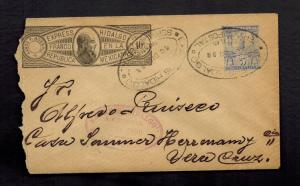 1898 Hidalgo Mexico Express Mail Cover to/from Veracruz