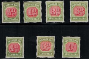 Australia 1938 SC J64-J70 Set LH CV $257